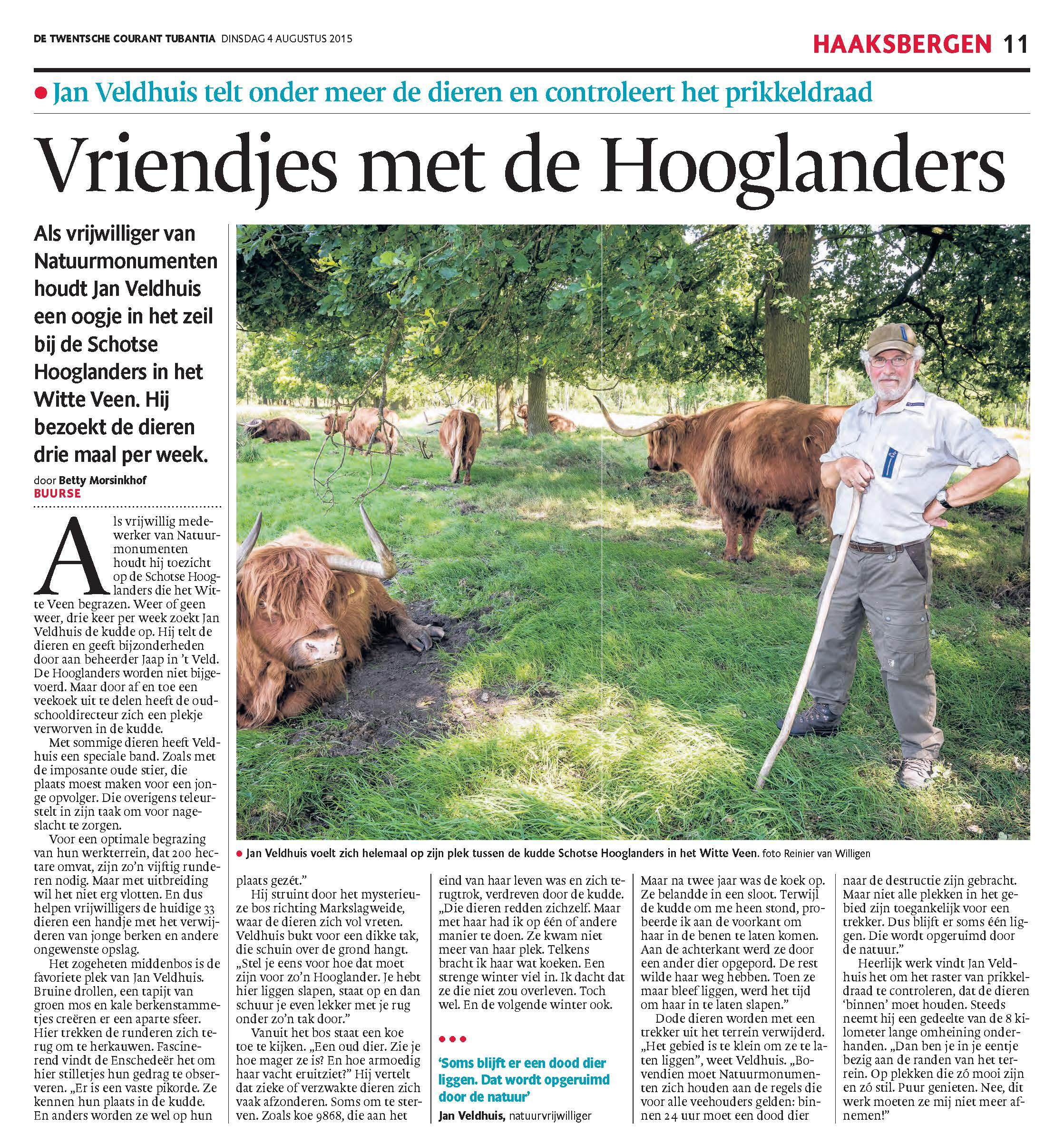 Vriendjes met de Hooglanders